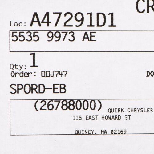 2005-2006 DODGE DAKOTA BATTERY TRAY OEM NEW MOPAR 55359973AE