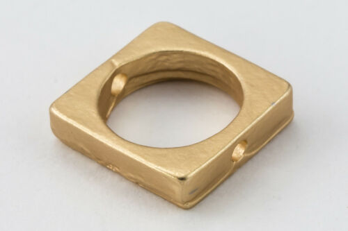 8.5mm Matte Gold Pewter Square Bead Frame #MFA194