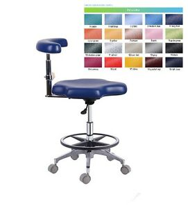 Image is loading Dental-Assistant-Chair-Hospital-Nurse-Stool-Seat-Height-  sc 1 st  eBay & Dental Assistant Chair Hospital Nurse Stool Seat Height Adjustable ...