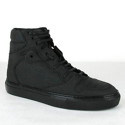 half off 325d3 83337 $595 Balenciaga Men Black Perforated Leather Hi Top Sneaker 39/US 6 373406  1000   eBay