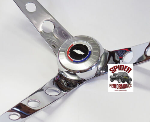 "64-65 Chevelle Malibu EL Camino steering wheel RED WHITE BLUE BOWTIE 15/"" WALNUT"