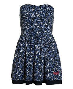 New-Womens-Superdry-50-039-s-Meadow-Print-Dress-Wild-Flower-Navy