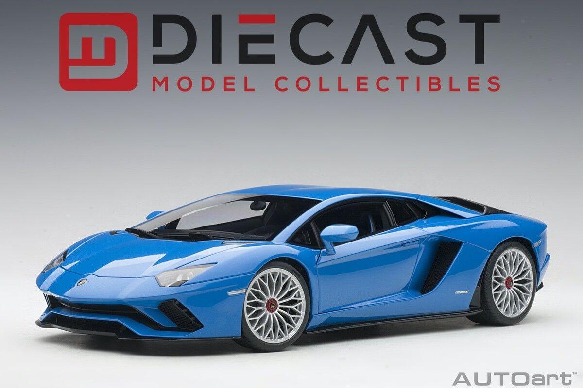 AUTOART 79134 Lamborghini Aventador S (bleu Nila Pearl bleu) 1 18TH échelle