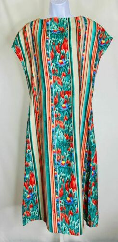 Roncelli Vintage Multicolor Striped & Floral Prin… - image 1