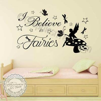 Wall Sticker Fairy Bedroom Decor