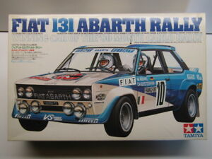 Tamiya Vintage 1:20 Scale Fiat 131 Abarth Rally Model Kit - Motorisable - New