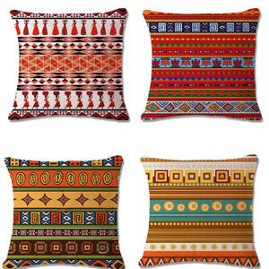 18-034-x18-034-Aztec-Bohemia-Geometric-Abstract-Cotton-Linen-Pillow-Case-Cushion-Cover