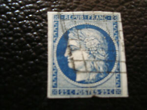 FRANCE-timbre-yvert-et-tellier-n-4-obl-2eme-choix-pliure-A5-stamp-french