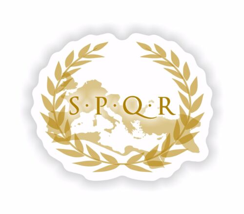 Roman SPQR Lazio City Coat of Arms Sticker Decal for Laptop Tablet Fridge Door