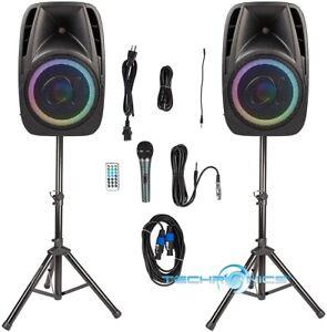 "12"" 1700 WATT SET OF ALPHASONIK ALL-IN-ONE PARTY SERIES POWERED PA SYSTEM/PRO DJ"