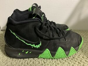 release date special for shoe performance sportswear NIKE Kyrie Irving 4 Halloween Black Rage Green Basketball shoes ...