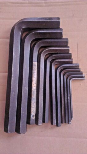 Ex MOD Allen Hex Keys 4mm to 19mm Metric Assorted Sizes and Brands