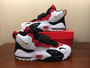 reputable site 185eb b64e5 Details about NIKE AIR MAX SPEED TURF OG 49ERS WHITE-METALLIC GOLD-BLACK  SIZE 10 525225-101