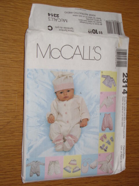 23706bbdf Mccall s 2314 Pattern Baby Infant   Preemie Knit Layette Sleeper Top ...