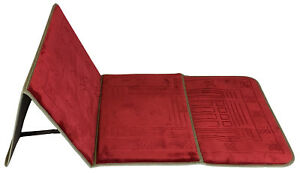 Muslim-prayer-rug-mat-carpet-folding-with-back-support-seat-Red-iseat