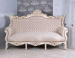 Magnificent Details Zu French Sofa Baroque Bench Royal Furniture Shabby Chic 80 Gilt Louis Solid Wood Beutiful Home Inspiration Cosmmahrainfo