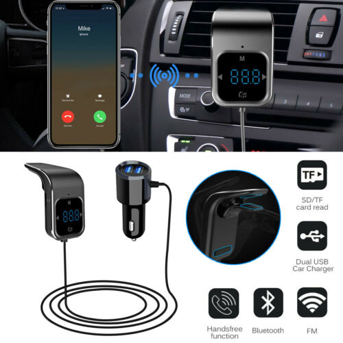 Auto Car Bluetooth FM Transmitter KFZ Radio Adapter freisprecheinrichtung Kit DE