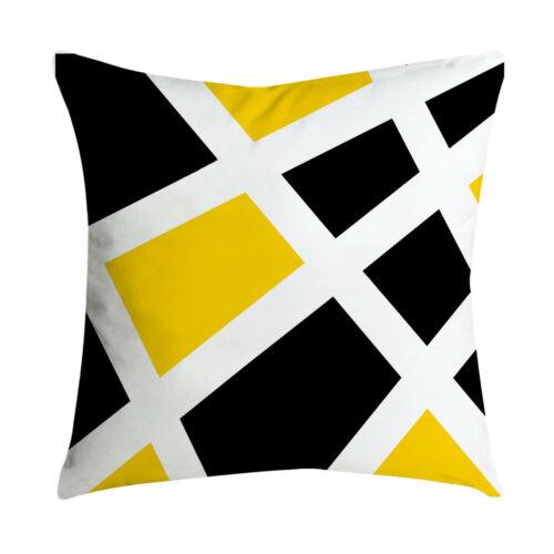 Pillowcase Leaf Yellow Pillow Case Sofa Car Waist Throw Cushion Cover Home Decor