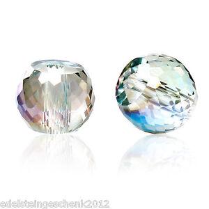 30-Glas-Perlen-Rund-Mehrfarbig-Transparent-Facettiert-Beads-zum-Basteln-8mm