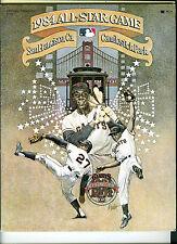 1984 All Star Game Program, Candlestick Park, San Francisco, Ca.