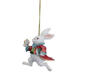 Décoration de Noël lapin blanc Gisela Graham