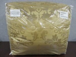 4-Piece-Queen-Comforter-Set-With-Pillow-Shams-amp-Bed-Skirt-Gold-Leaf-NEW