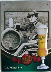 Blechschild-Staropramen-Das-Prager-Bier-1-Mann-mit-Fass