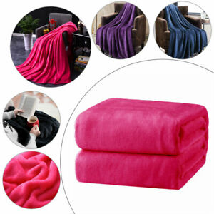 1-Coral-Warm-Fleece-Blanket-Deluxe-Super-Soft-Adult-Home-Throw-Sofa-Bed-Flannel