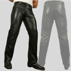 Cow In Rind Pelle Jeans Nero Tasca Ceroso Pantaloni nappa Julius Autentico Uomo 0fwUTqA6