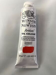 Winsor-amp-Newton-Artists-039-Oil-Colour-Series-4-37ml-1-25-fl-CADMIUM-SCARLET-NEW