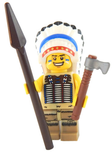 NEW LEGO NATIVE AMERICAN CHIEF MINIFIG indian minifigure figure tribal warrior
