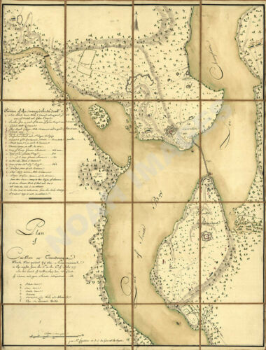 Plan of Fort Ticonderoga NY c1777 map 21.5x28