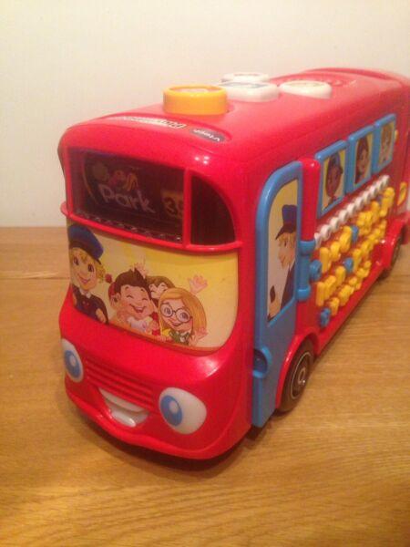 (v-tech) Rouge Playtime Bus Scolaire Avec Phonics