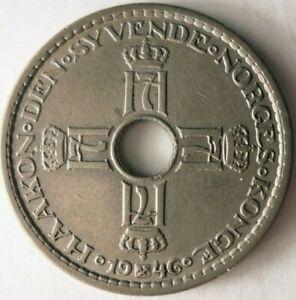 1946-Norway-KRONE-Excellent-AU-UNC-Coin-Norway-Bin-A1
