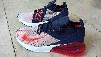 Nike Womens Air Max 270 Flyknit Usa Red White Blue Ah6803 200 Independence Day Ebay