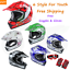 DOT-Youth-Kid-Helmet-Dirt-Bike-ATV-Motocross-Motorcycle-Full-Face-Goggles-Gloves thumbnail 2