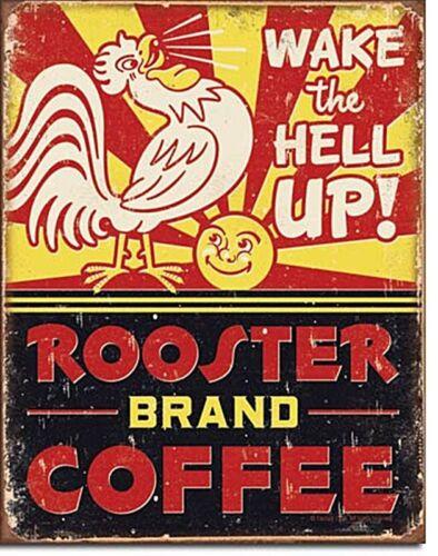 Rooster Brand Coffee metal sign  410mm x 300mm de