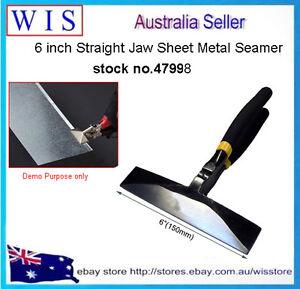 6-034-150mm-Straight-Jaw-Sheet-Metal-Hand-Seamer-Non-Slip-Pitted-Handles-47998