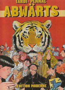 Abwaerts-Hardcover-Comic-von-Tardi-Pennac-in-Topzustand