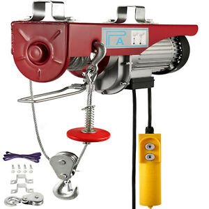 1760-Lb-Overhead-Electric-Hoist-crane-lift-garage-winch-w-remote-110V