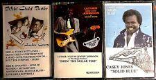 "BLUES CASSETTE LOT: Wild Child Butler, Casey Jones, Luther ""Guitar Jr."" Johnson"
