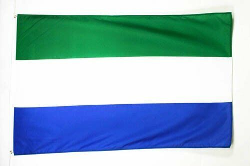 3x5 3'x5' Wholesale Set 2 Pack USA American /& Sierra Leone Country Flag Banner