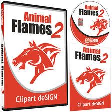 Animal Flames 2 Clipart Vinyl Cutter Plotter Images Eps Vector Clip Art Cd