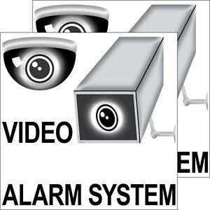 RéAliste 2 Autocollant 20 Cm Sticker Caméra Vidéo Système D'alarme Remarque Maison Fenêtre Porte Portail-afficher Le Titre D'origine Facile Et Simple à Manipuler