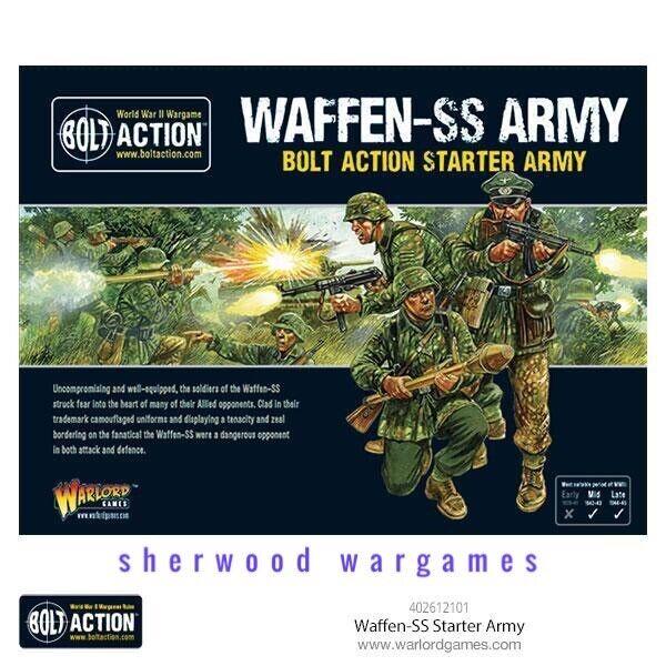 28mm Warlord spel tyska Waffen SS stjärnater Army Bolt verkan BNIB WWII