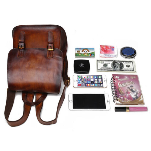 Details about  /Women Vintage Backpack Multi-Capacity School Real Genuine Leather Travel Daypack