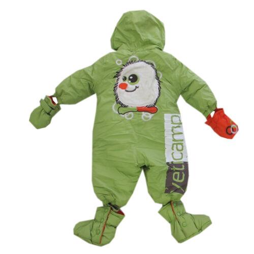 Schneeanzug Overall Einteiler Babyanzug mit Kapuze Handschuhe Schuhe Gr.68,74,80