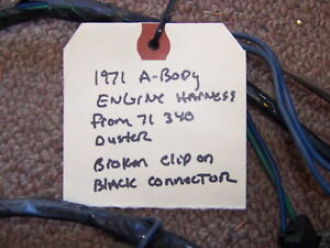plymouth duster wiring harness 1971 plymouth duster 340 engine wiring harness oem ebay  1971 plymouth duster 340 engine wiring