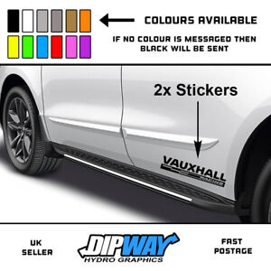 3a10ad8cd5 Image is loading Vauxhall-Racing-2x-Side-Skirt-Car-Van-Stickers-