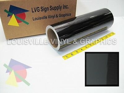"12"" X 4ft - Black Chrome Polished -*LVG InterCal*- Craft & Hobby Vinyl Film"